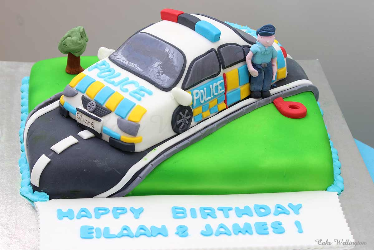 Strange Traffic Police Birthday Cake Funny Birthday Cards Online Alyptdamsfinfo