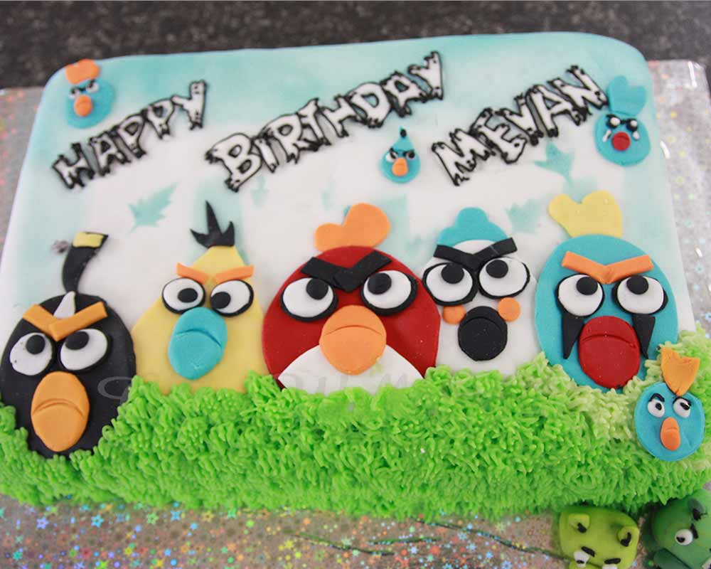 Brilliant Angry Bird Cake Funny Birthday Cards Online Fluifree Goldxyz