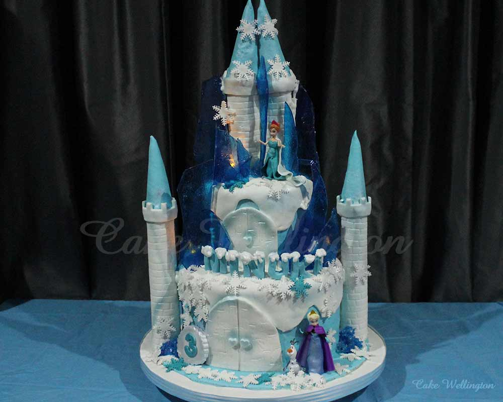 Awesome Frozen Castle Cake Funny Birthday Cards Online Overcheapnameinfo