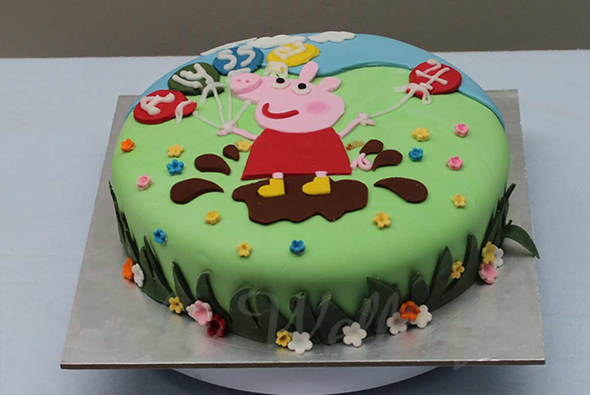 Magnificent Peppa Pig Cake Birthday Cake From Cake Wellington Personalised Birthday Cards Arneslily Jamesorg
