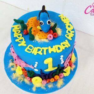1st year Birthday Cake
