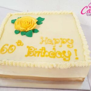60th Birthday Cake from Cake Wellington