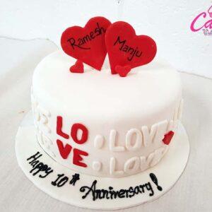 anniversary cake from Cake Wellington