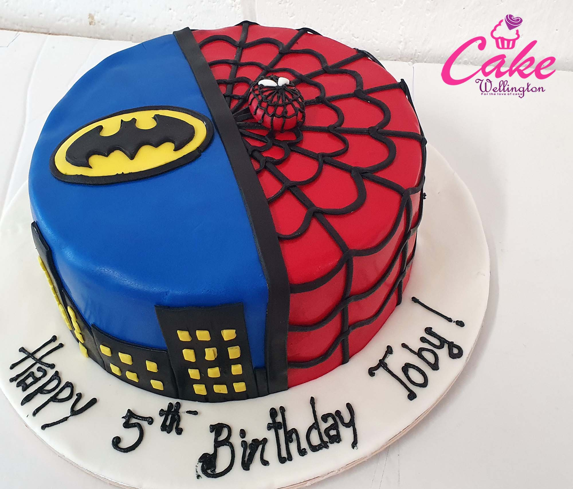 Fabulous Spiderman Birthday Cake From Cake Wellington The Best Cake Makers Personalised Birthday Cards Paralily Jamesorg