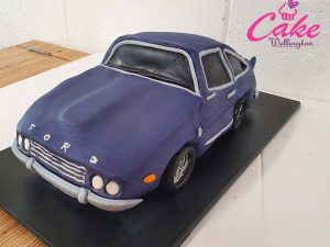 Ford car birthday cake