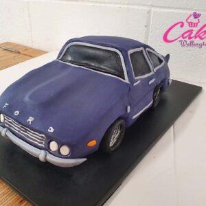 Ford car birthday cake