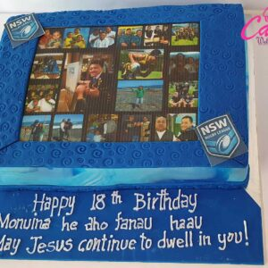edible photo cake from cake wellington